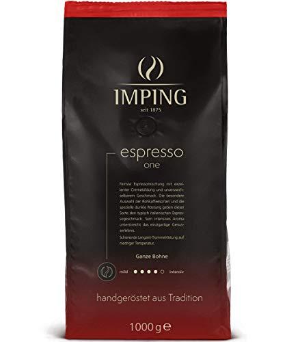 Espresso One Kaffee Premium Kaffeebohnen 1kg - Stärke 4/5 - Kräftiger Espresso Ganze Bohnen 60% Robusta 40% Arabica - Intensiver Geschmack handgeröstet aus deutscher Traditionsrösterei