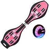 Patineta de waveboard Patinete de Dos Ruedas para Adultos para niños Tabla de vitalidad patineta de Dos Ruedas para niños Adultos,Pink