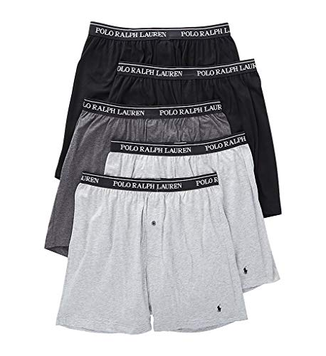 Polo Ralph Lauren Classic Fit w/Wicking 5-Pack Boxers 2 Andover/1 Madison/2 Black MD