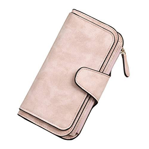 Fanville vrouwen portemonnees portemonnee retro glamoureuze meerdere sleuven PU lang ontwerp voor kaarten geld lederen dames portemonnee grote capaciteit