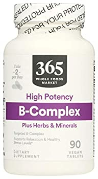 365 by Whole Foods Market Supplements - Vitamins B-Complex plus Herbs & Minerals - High Potency 90 Count