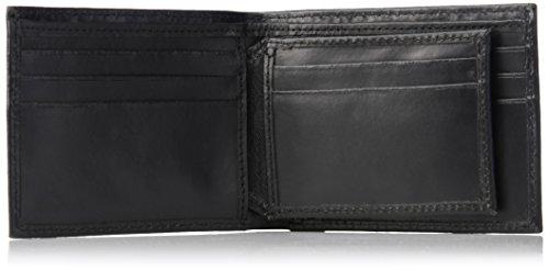Calvin Klein Men's Leather Bookfold,Black,One Size