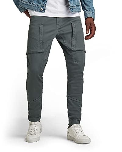 G-STAR RAW Zip Pocket 3D Skinny Cargo Pantalones, Gris (Graphite C105-996), 38W x 32L para Hombre
