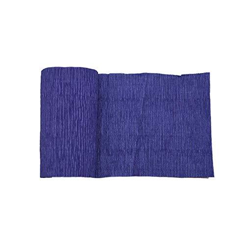 250 * 10 cm Origami Crêpepapier DIY Ambachtelijke Gerimpelde Papierrol voor Bruiloft Decoratie Bloem Verpakkingsgeschenken Verpakkingsmateriaal 7, F09 Koningsblauw