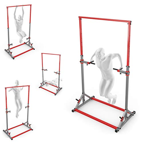 K-Sport: Stazione di Pull-Up + Dip Station I Stazione di Forza con Pull-Up Bar e Dip Bar I Torre di Forza e Pull-Up Tower I Pull-Up Dip Station I Attrezzature Professionali per Il Fitness a casa