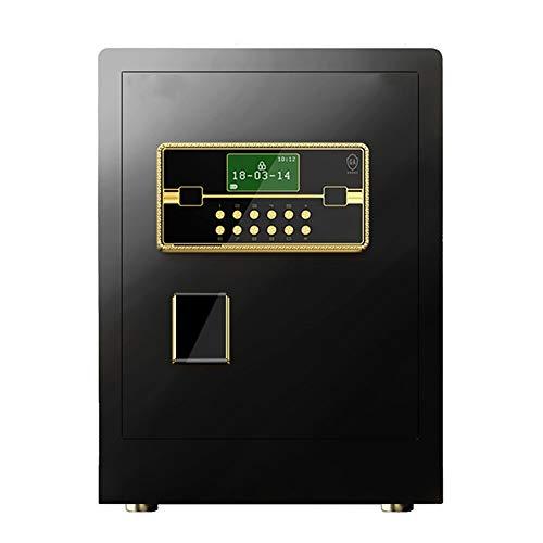 Kan op de vloer of aan de muur niet toegestaan startpagina kleine smart-vingerafdruk Password Safe vol staal Office Home File Safe anti-diefstal kluis (kleur: zwart, maat: 45x33x38cm)
