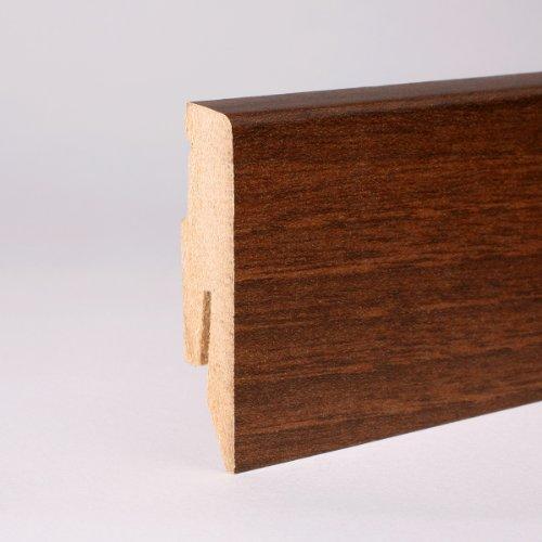 25m Sockelleisten 60mm All Inclusive Paket Nussbaum