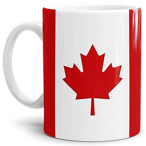 Tassendruck Flaggen-Tasse/Souvenir/Urlaub/Länder-Fahne/Kaffetasse/Mug/Cup - (Canada, Normal)