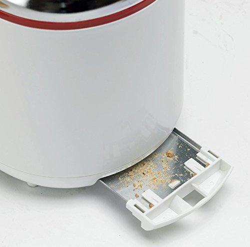Ardes AR1T20 Tostapane 2 Fette TOSTO Cromo Timer Programmazione Cottura con Pinze in Acciaio Inox Raccoglibriciole Removibile e Avvolgicavo, 850 W, Inossidabile, Bianco