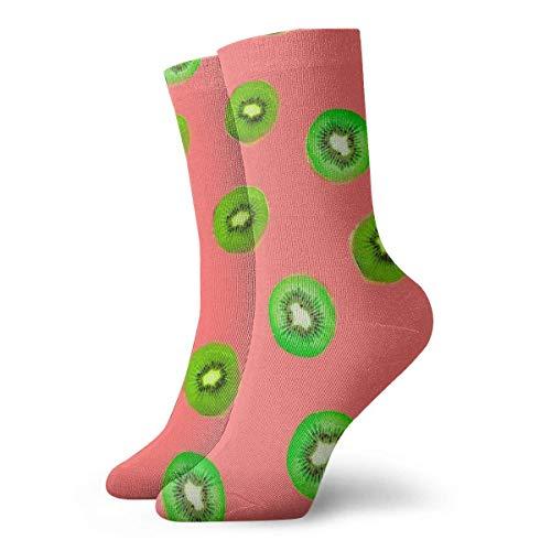 Generic Die gedruckten lustigen Neuheit-beiläufigen Mannschafts-Kleid-Socken der Kiwi-Frucht-Männer für Frauen/Unisex 19,7 Zoll