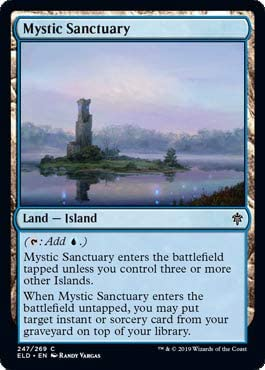 MTG Mystic Sanctuary Throne on Eldraine