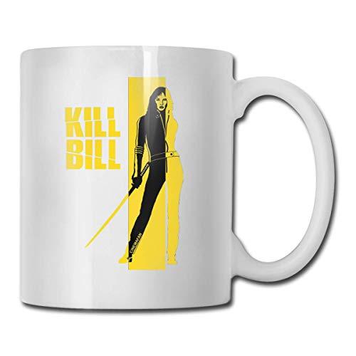 Taza de café MQJJ Cups Kill Bill Taza de viaje blanca personalizada de un tamaño