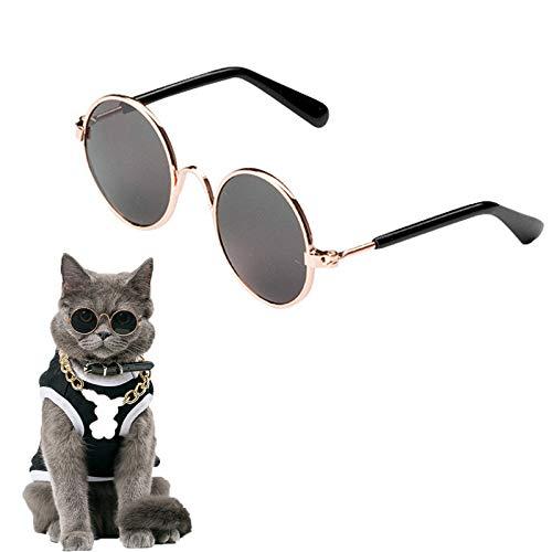 Katzenbrille Hundebrille Retro Haustier Brille Lustige Haustierbrille Haustier Sonnenbrille Stark Und Robust Einfach Zu Tragen Brille Für Katzen Und Hunde Cosplay Party Kostüm Foto Requisiten