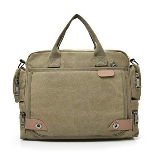 CMZ Backpack Canvas Men's Bags Fashion Men's Shoulder Bags Business Casual Portable Crossbody Men's Multi-Compartment Briefcase