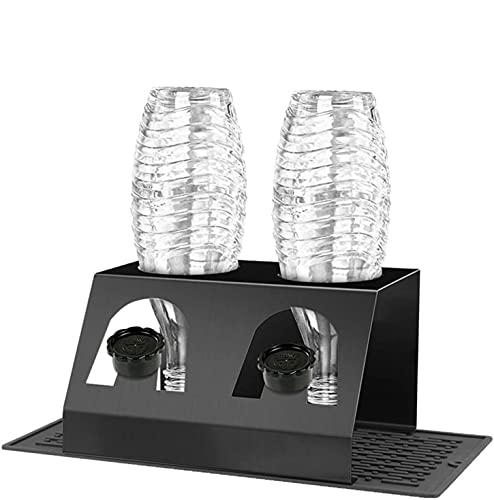 Noa Home Deco Escurreplatos de Acero Inoxidable para Botellas de Cristal y Emil, con Soporte para Tapa, Bandeja de Goteo extraíble para Botellas de Cristal