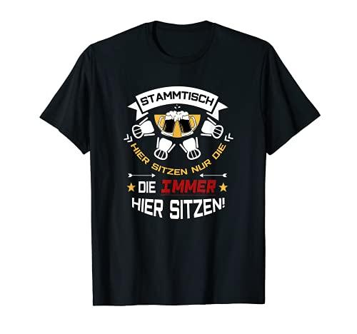 Stammtisch Biergläser | Männer & Frauen | Bier Spruch T-Shirt