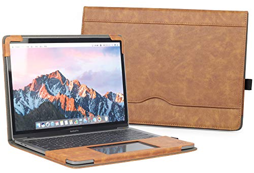 TYTX MacBook Pro 13 Inch Leather Case 2020 2019 2018 2017 2016 Release A2289 A2251 A2159 A1989 A1706 A1708 A2338,Leather Laptop Protective Folio Book Cover (Brown)