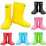 Zorax - UK8 Kids - EU26 - Yellow Girls Boys Waterproof Non-Slip Kids Motorbike Rain Boots Kids Rain Shoes Wellies Unisex Children Wellington Boots