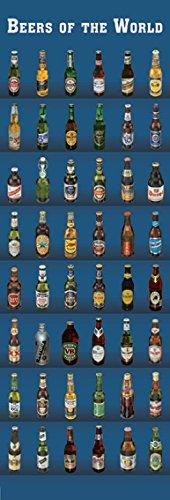 Bier–Biersorten–Door Poster–Beers Of The World–53x 158cm zeigt/Poster