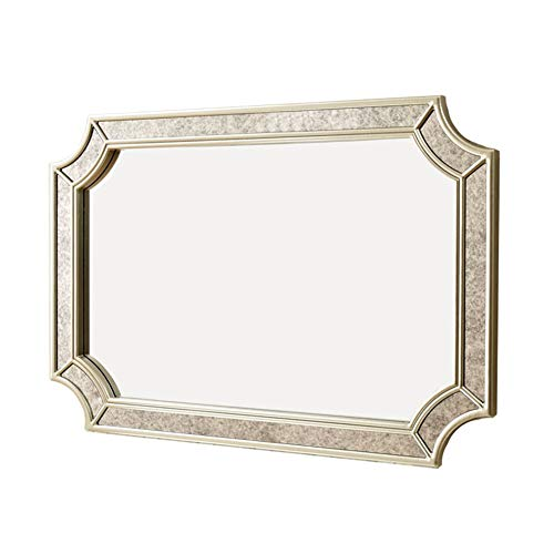 Bath+ Großer dekorativer Vintage Wandspiegel, moderner dekorativer Spiegel für Wohnzimmer, Badezimmer, Schlafzimmer und Flureingang, Goldrahmen