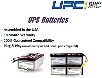 UPSBatteryCenter RBC43 Compatible Replacement Battery Cartridge for SUA2200R2X147 Plug /& Play