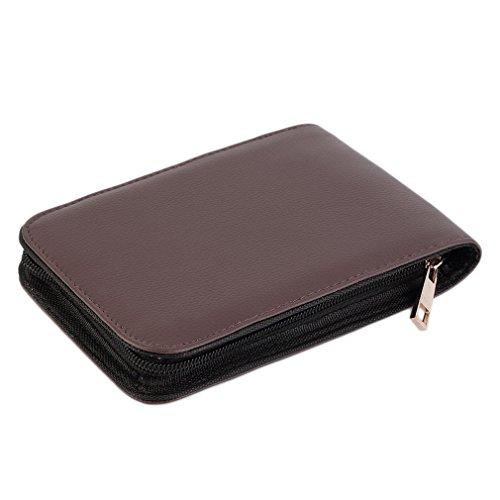 klinkamz Pen Aufbewahrungstasche Braun Aufbewahrungstasche Füllfederhalter/Kugelschreiber, großer Stift halterung Aufbewahrung Tasche 48Pen
