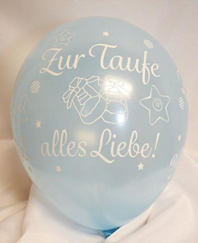 Unbekannt Luftballons Zur Taufe Alles Liebe hellblau Qualatex, ca. 30 cm, 5 St.