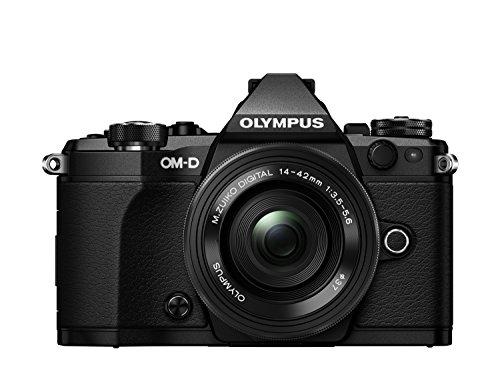 Olympus OM-D E-M5 Mark II Kit, Fotocamera di Sistema Micro Quattro Terzi (16,1 MP, Stabilizzatore d'Immagine a 5 Assi, Mirino Elettronico) e Obiettivo M.Zuiko Digital ED 14-42mm F3.5-5.6 EZ Zoom, Nero