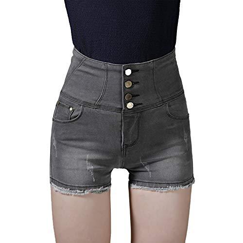 Pantaloni da Donna Estate Elegante Donna Pantaloncini Lhwy Sportivi Casuali Classiche Home Ragazzi Corto Mini Pantaloni Corti Donna Fitness Pantaloni Sportivi Nero Grigio (Color : Grau, Size : 2XL)