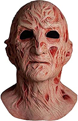 Trick Or Treat Studios Deluxe Freddy Krueger Mask for Teens and Adults, A Nightmare on Elm Street 4, One Size, Latex by TrickOrTreatStudios