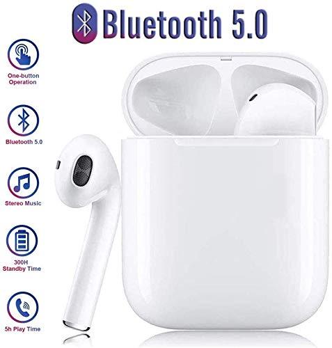 kabelloses Bluetooth 5.0-Headset, integriertes Touch-Headset, tragbare TWS-Ladetasche, wasserdichtes Sport-Headset mit Geräuschreduzierung, kompatibel mit Android/iPhone/Samsung/Huawei
