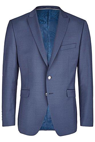 Wilvorst Jackett zum Hochzeitsanzug, blau, in einem uninahen Serge Nouveau, Drop8, Super-Slimline Größe 54