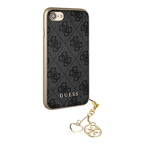 GUESS - Custodia originale Guess Charms 4G per iPhone 7 / iPhone 8 - grigio