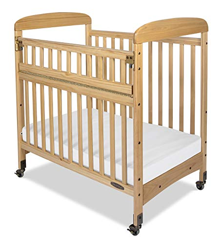 Child Craft Avery SafeAccess Portable Compact Wood Daycare Crib