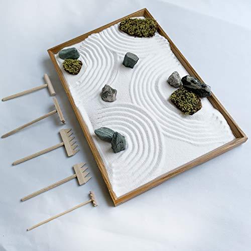 本格的欲しい道具が揃ってる最上級クラス。本格的枯山水庭園が作って飾って楽しめる【枯山水キット<禅> Zen master kit】