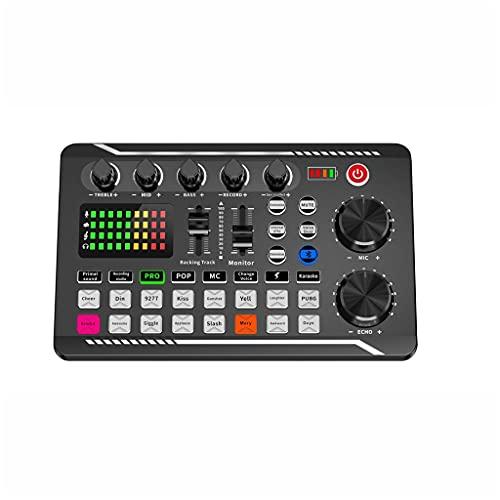 TWDYC Audio USB Tarjeta de Sonido Externa Micrófono Entretenimiento Personal Auricular Live Stream for PC Teléfono y computadora