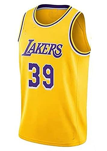 Hombre Jersey,NBA Lakers n#39 Howard Ropa de Baloncesto,Camisetas Al Aire Libre Casual Mujer Redondo CháNdales,Yellow,S
