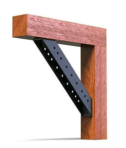 Empula 1 Stück 4mm Schwerlast Balkenverbinder Holzverbinder Eckenverbinder Profilverbinder (120 mm)