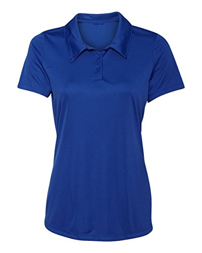 Women's Dry-Fit Golf Polo Shirts 3-Button Golf Polo's in 20 Colors XS-3XL Shirt ROYAL-2XL