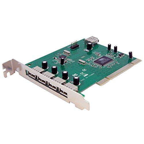 StarTech PCIUSB7 Adaptador Tarjeta PCI USB 2.0 de Alta Velocidad 7 Puertos, 4 Externos/3 Internos, 7X USB…