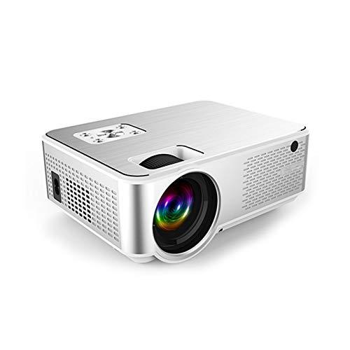 Pinzheng Mini proyector, 1080p y proyector de películas portátiles de 1080p y 180 'con 50,000 hrs LED Life, Compatible con TV Stick, Videojuegos, HDMI, USB, TF, VGA, AUX, AV