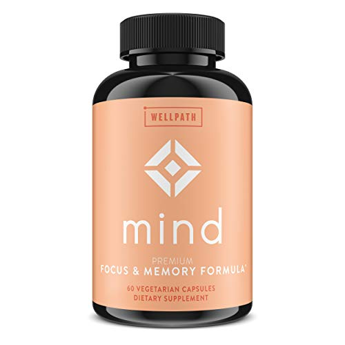 Mind Brain Supplement - Natural Formula to Boost Focus & Memory with Lions Mane, Ginkgo Biloba, and L-Theanine for Long Term Brain Support - 60 Veg Capsules
