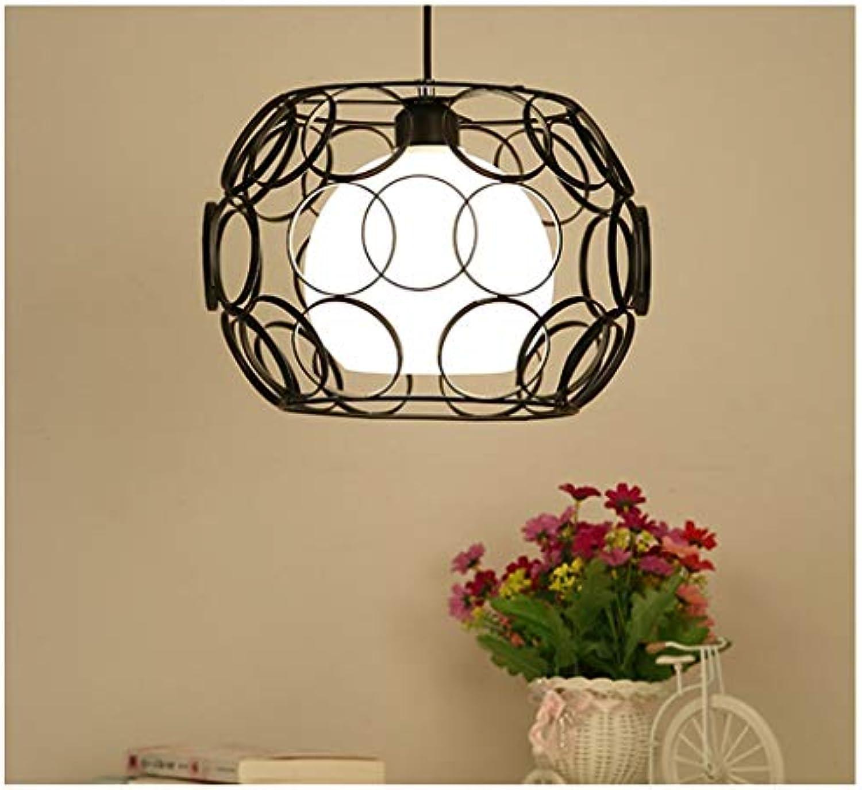 ADNFC Nordic einfachen einzigen Kopf Glas runde Kreis schmiedeeisen Lampe Retro kreative persnlichkeit Wohnzimmer pendelleuchte Restaurant bar Tisch deckenbeleuchtung