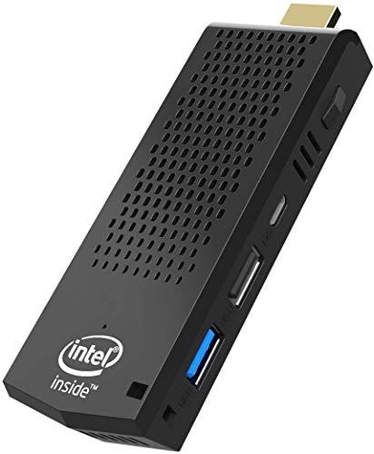 Fanless Mini PC Stick Windows 10 Pro (64-bit), T6 Intel Atom Z8350 Computer Stick 2GB RAM/ 32GB eMMC, Support 4K HD, Dual Band WiFi, USB 3.0, Bluetooth 4.2, Auto Power On