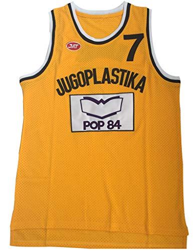 Toni Kukoc Basketball Trikots 7#, Vintage Swingman Edition Mesh Jersey, bestes Geschenk XL farbe