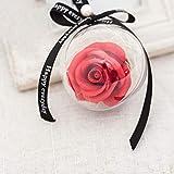 VICKY-HOHO Seife Blume, 2Pcs Rose Kunststoff Kugel Anhänger Seife Blume Dekoration