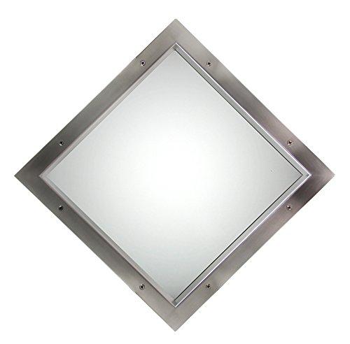 Edelstahl Bullauge TBAM-260 BS Quadrat Milchglas beidseitig verschraubt Türfenster