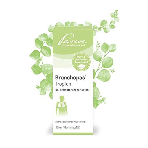 Pascoe® Bronchopas Tropfen: bei krampfartigem Husten - z.B. bei Bronchitis oder Asthma - Hustentropfen lindern Hustenreiz & Atemnot - ab 1 Jahr - laktosefrei, zuckerfrei & glutenfrei - 50 ml