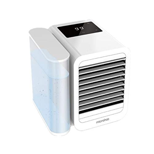 Kleine huishoudelijke air-conditioning fan ventilator Desktop-mini usb airco ventilator draagbare kantoor (Kleur: wit) 8bayfa (Color : White)