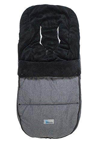 Altabebe AL2280P-01 Winterfußsack Travel geeignet für Bugaboo und Joolz, dunkelgrau/schwarz